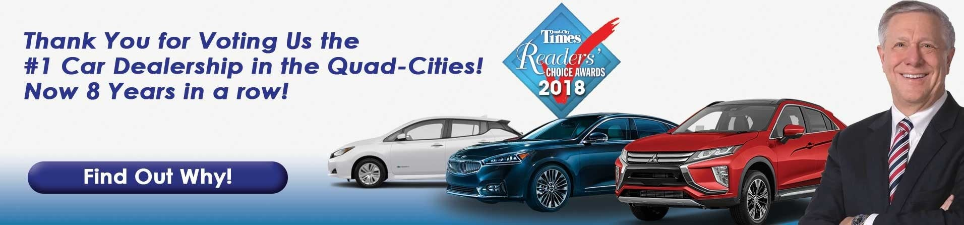 Your Quad Cities Kia Nissan Mitsubishi Dealer - New and Used